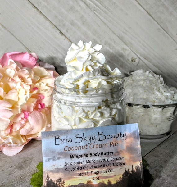 Coconut Cream Butter Homemade Whipped Body Butter Homemade Hand Body Lotion  Homemade Body Cream Hand Cream Silky Body Hand Cream  Mom Gift