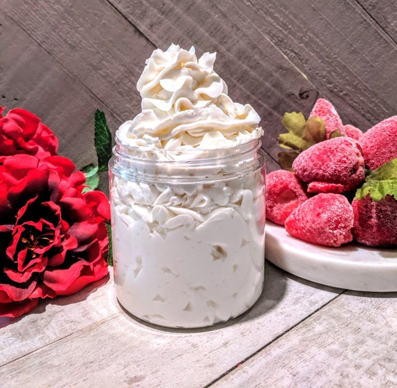 Strawberry Lotion Homemade Body Lotion Homemade Hand Body Lotion  Homemade Body Cream Hand Cream Silky Body Hand Cream  Mom Gift