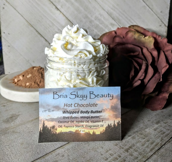 Hot Chocolate Butter Homemade Whipped Body Butter Homemade Hand Body Lotion  Homemade Body Cream Hand Cream Silky Body Hand Cream  Mom Gift