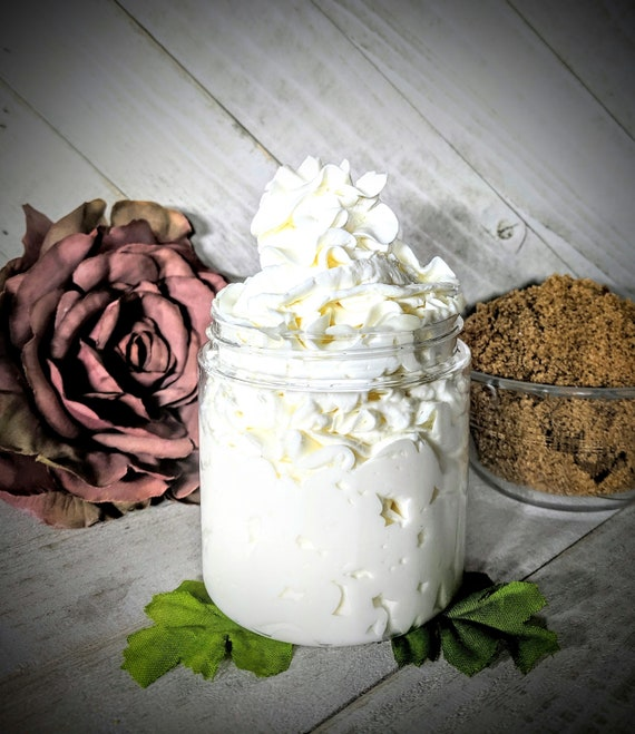 Organic Natural Brown Sugar Fig Lotion Homemade Body Lotion Homemade Hand Body Lotion  Homemade Body Cream Hand Cream Silky Eczema