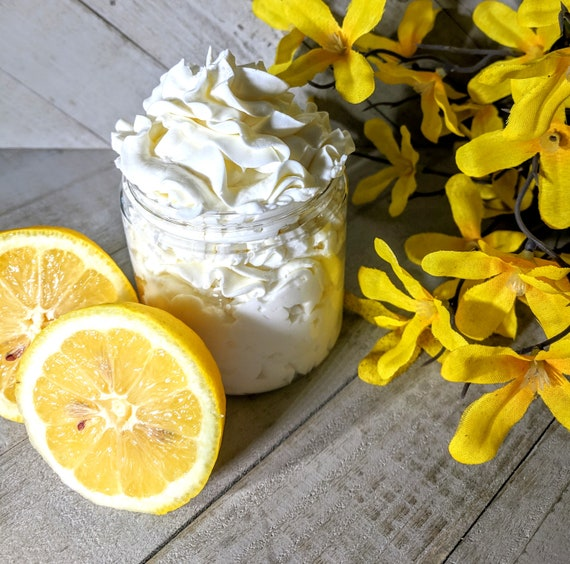 Lemon Lotion Homemade Body Lotion Homemade Hand Body Lotion  Homemade Body Cream Hand Cream Silky Body Hand Cream  Mom Gift
