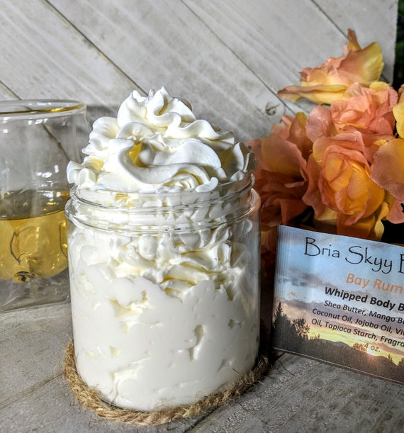 Bay Rum Butter Homemade Whipped Body Butter Homemade Hand Body Lotion  Homemade Body Cream Hand Cream Silky Body Hand Cream  Mom Gift