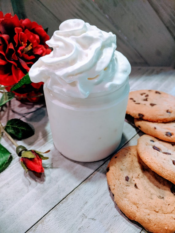 Organic natural Honey Eczema Chocolate Chip Cookies homemade lotion moisturizer women gift Shea Butter Holiday