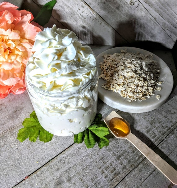 Oatmeal Honey Lotion Homemade Body Lotion  Homemade Hand Body Lotion  Homemade Body Cream Hand Cream Silky Body Hand Cream  Mom Gift