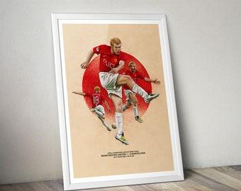 Paul Scholes Man Utd v Barcelona print