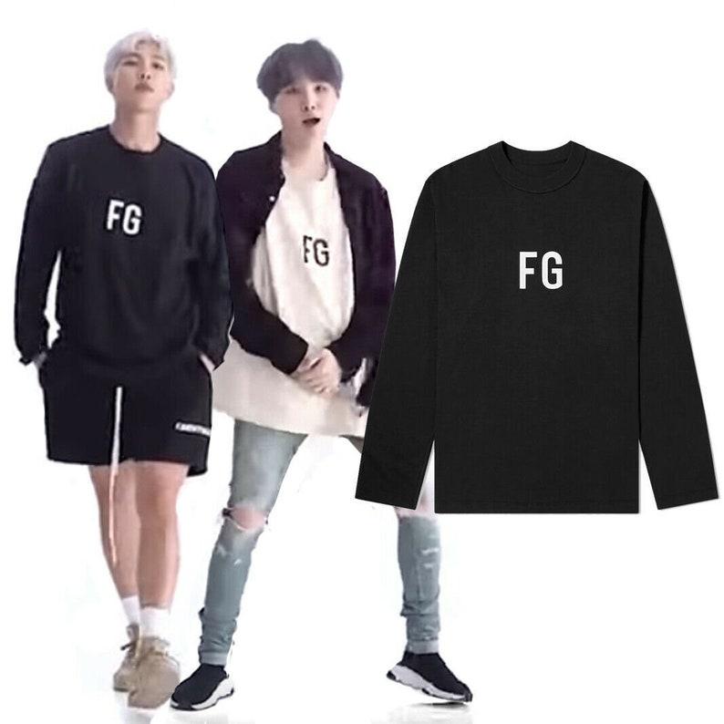 BTS Suga RM FG Print Long Sleeve/Kpop Merch/Bts shirt/Bts persona shirt/Bts  boy with luv/Jungkook/Agust d/Yoongi/Bts Merch/Bangtan boys/Fg