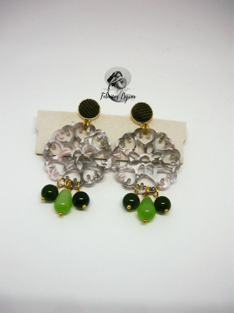 Rhea Earrings Green