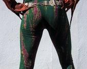 TIE DYE LEGGINGS ,Yoga leggings,Festival pants,Cotton leggings,Dark green leggings .All Seasons leggings,Plus size leggings,unisex leggings