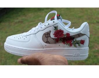 innovative design ca044 b5624 Nike Air Force 1 x GG Inspired Custom Design Men Women Sizes Designer  Luxury Brand AF1