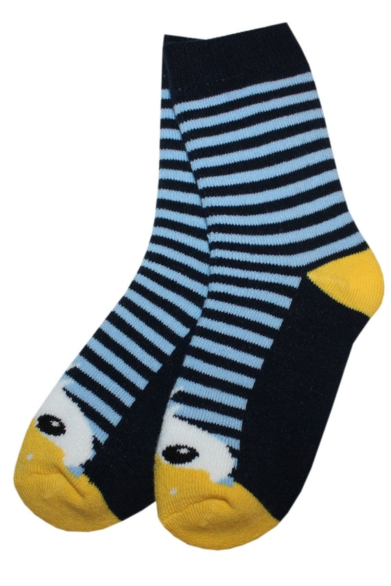 Terry babies and children Socks with a horse and stripes.Turquise.WERI SPEZIALS