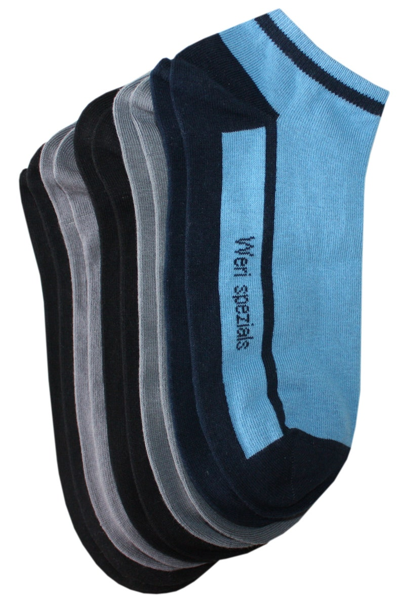 Men/'s ankle socks WERI SPEZIALS 5 Pair pack