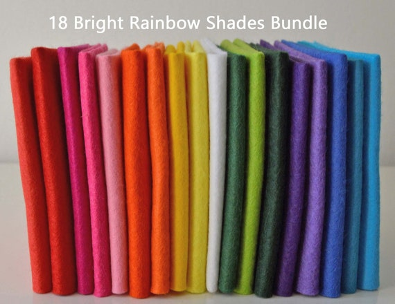 Choice of Colours /& Craft Pack Sizes Wool Blend Felt Pack 10 pieces per pack