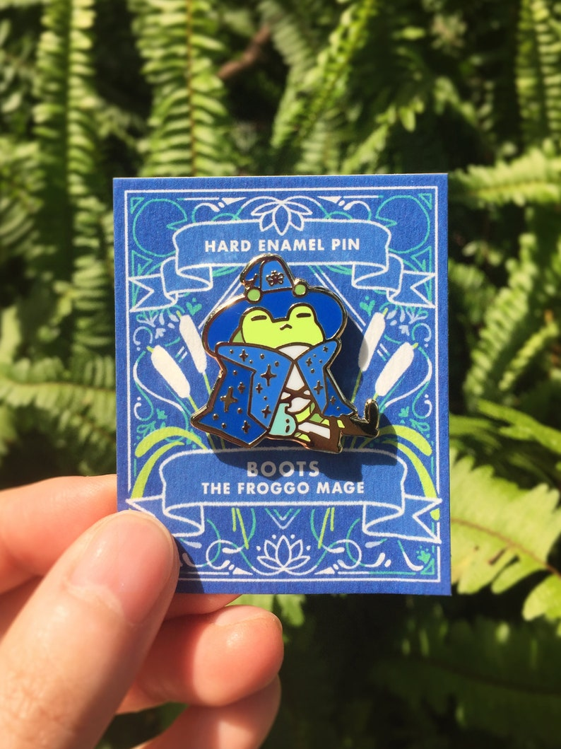 Magical Critters  Boots the Frog Mage Enamel Pin image 0