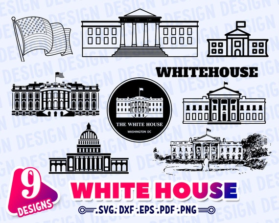 White House Svg White House Silhouette White House Outline Etsy