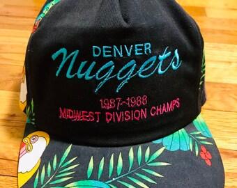 sale retailer 92173 ab271 Vintage Denver Nuggets 1987 hat