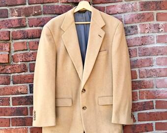 9bce24df5 90s Vintage Southwick Barneys Wool Sport Coat, Tan (Mens 41R)