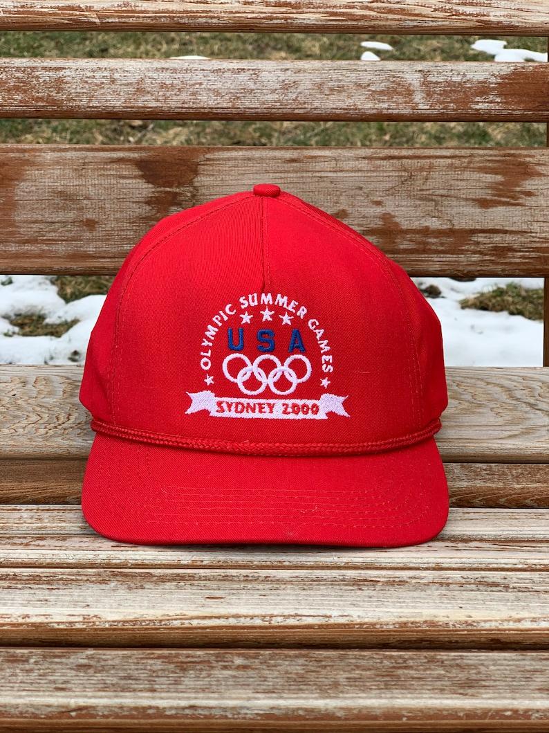 Vintage 2000 summer Olympics Sydney leather strap back hat