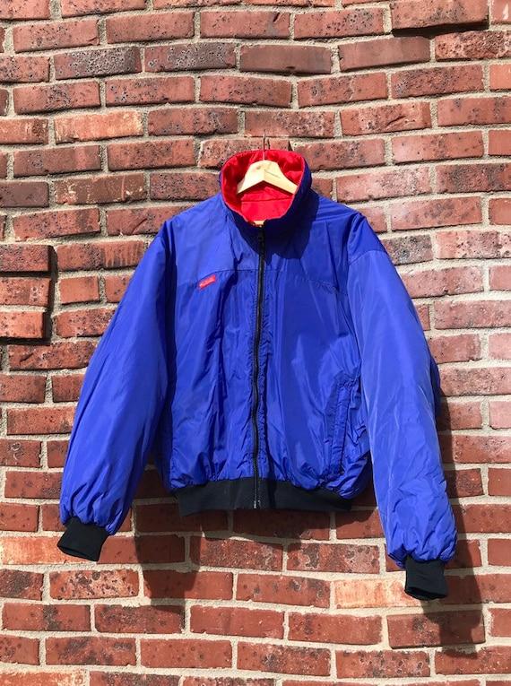 90s Vintage Columbia Reversible BlueRed Coat (Large)