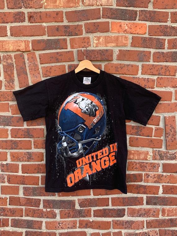 Vintage 80s or 90s Denver Broncos black graphic s… - image 1