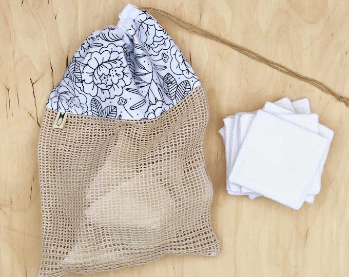Cotton Wash Bag - Floral