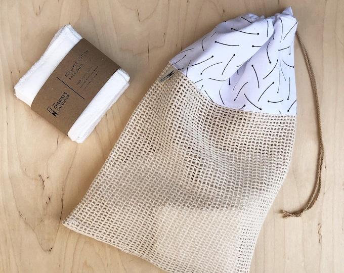 Cotton Wash Bag - Pins
