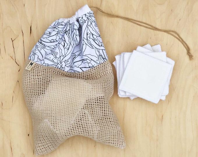 Cotton Wash Bag - Tropical