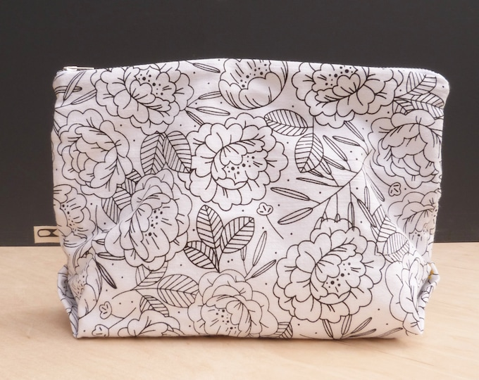 Large makeup pouch | Floral