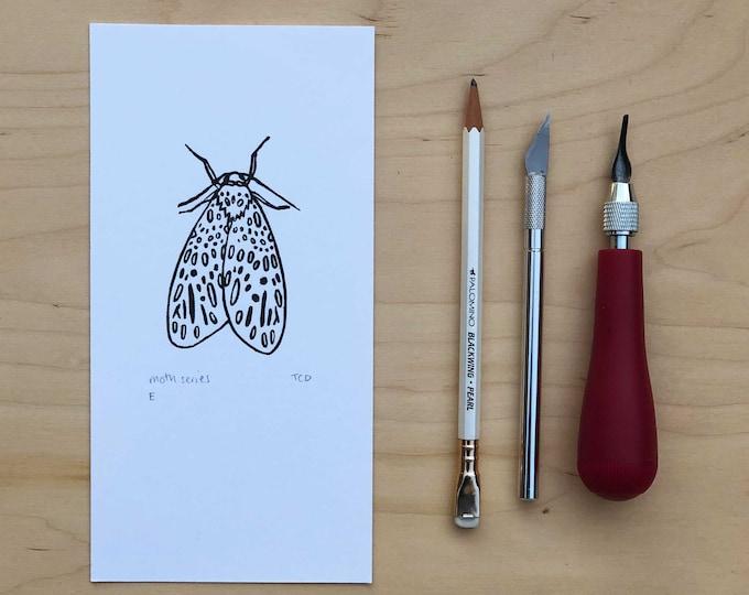 Moth Lino Print E