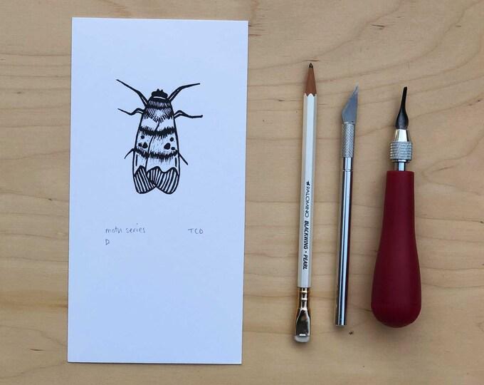 Moth Lino Print D