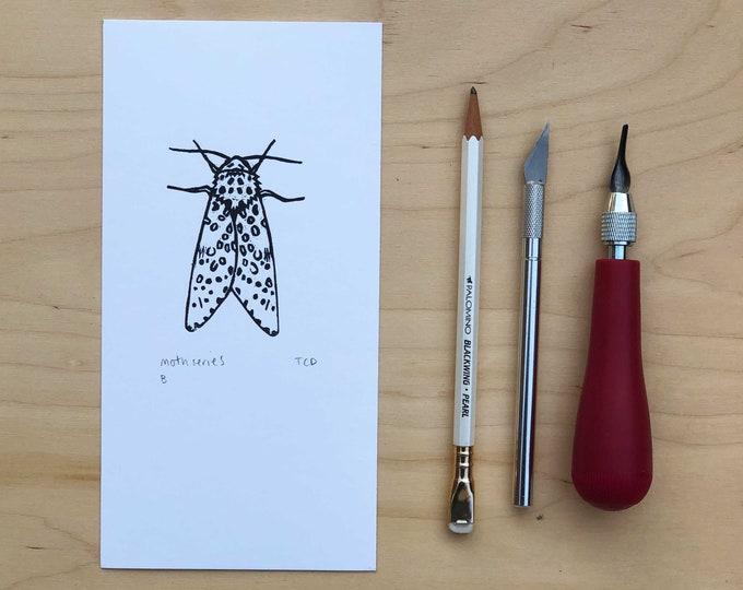 Moth Lino Print - B