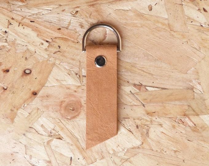 Washable kraft paper keyring