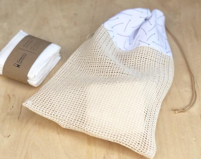 Cotton Wash Bag for Reusable Makeup Pads