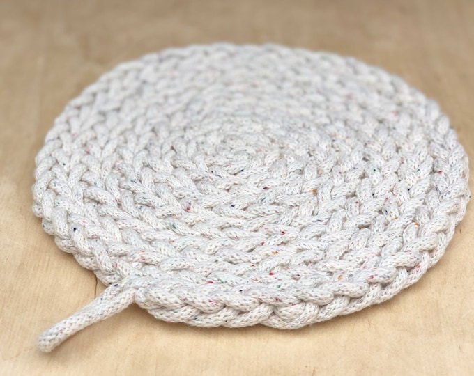 Recycled cotton trivet beige