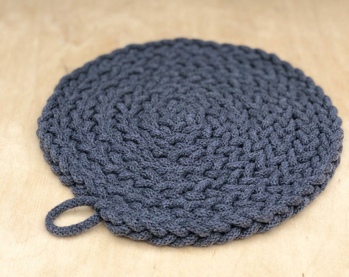 Recycled cotton trivet charcoal