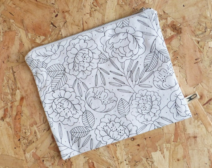 Medium zipper pouch | Floral