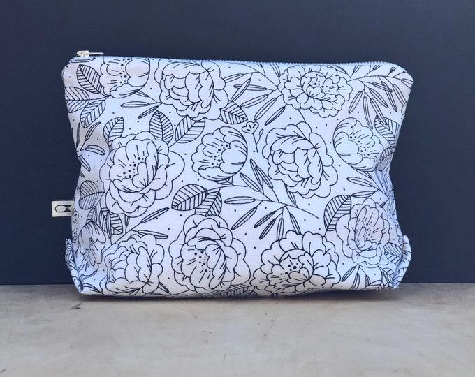 Large makeup pouch | Floral