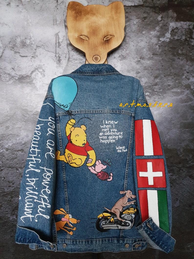 Custom denim jacket Hand painted jacket women/'s Hand painted custom denim jacket Customized denim jacket Denim painting Customized jeans