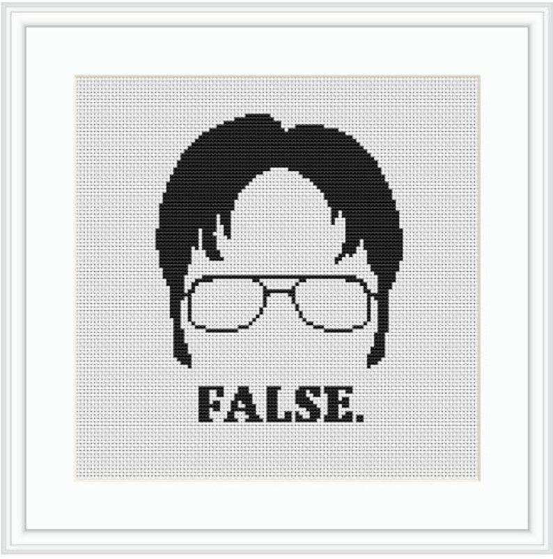 The Office Cross Stitch Kit Counted Cross Stitch Funny Kit Dwight Starter Cross Stitch Kit Dwight Schrute False Quotes Cross Stitch Kit