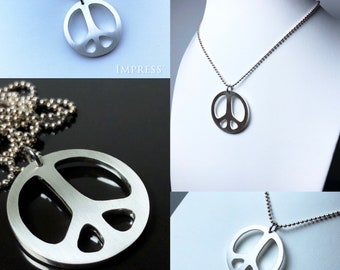 Peace Symbol Pendant - 925 Sterling Silver
