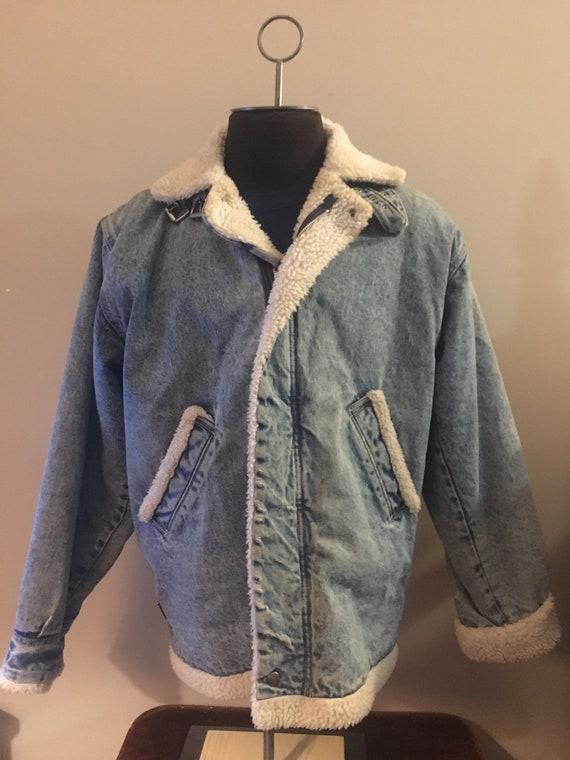 Vintage Sherpa Jean Jacket