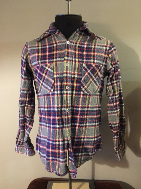 Vintage JC Penney Big Mac Plaid Flannel Shirt - image 2