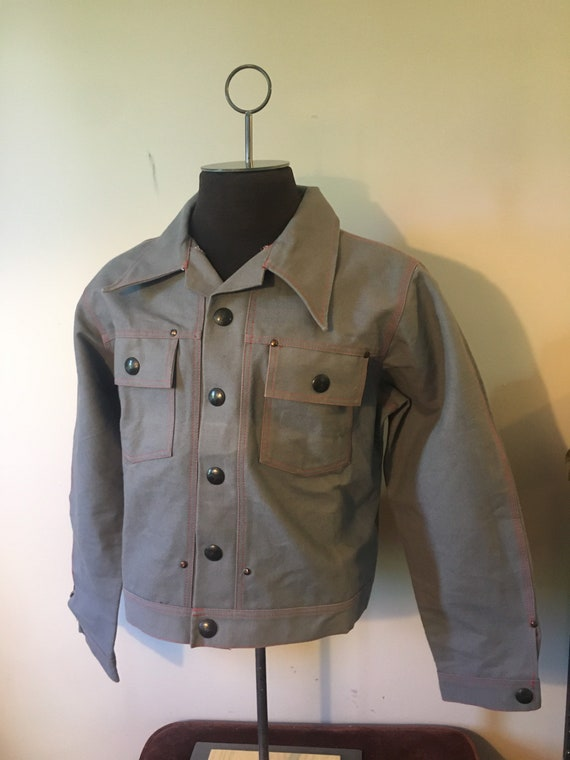 Vintage Pipe Liner Denim Jacket Workwear