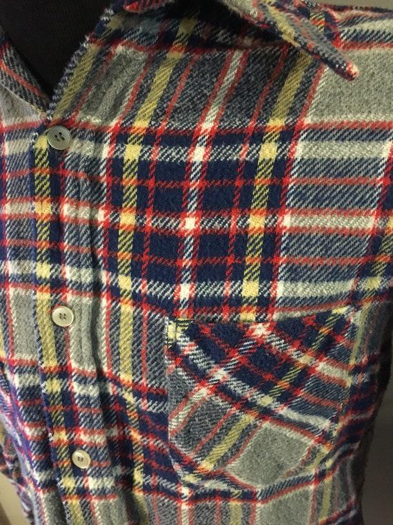 Vintage JC Penney Big Mac Plaid Flannel Shirt - image 5