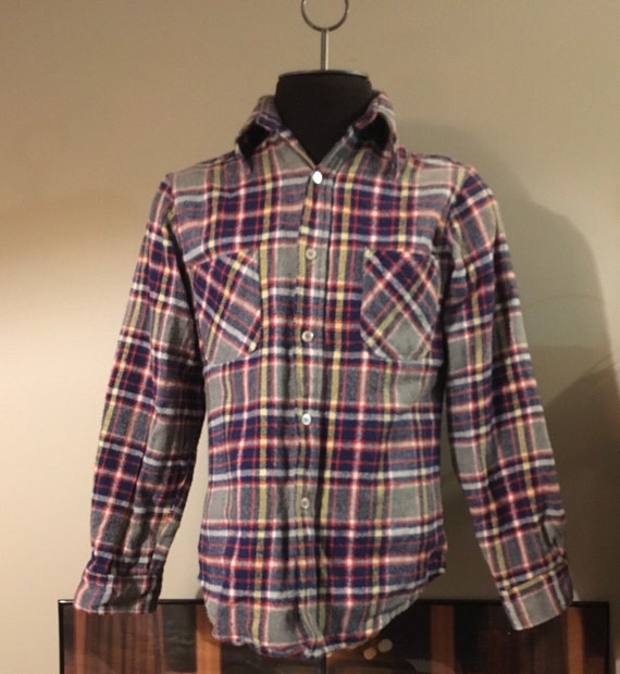 Vintage JC Penney Big Mac Plaid Flannel Shirt