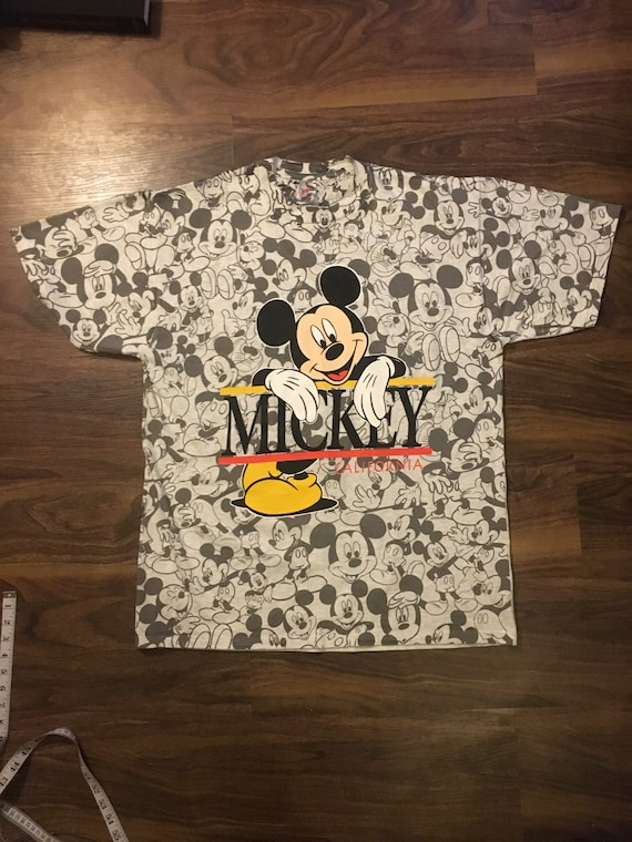 Vintage Mickey Mouse All Over Print tshirt