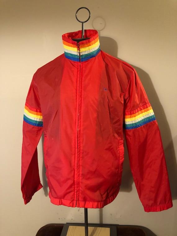 Vintage Ocean Pacific Windbreaker Jacket Rainbow S