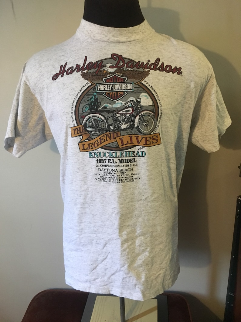Vintage Harley Davidson Knucklehead T Shirt