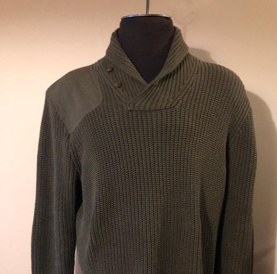 Vintage Ralph Lauren Polo Sweater Shawl Neck Milit
