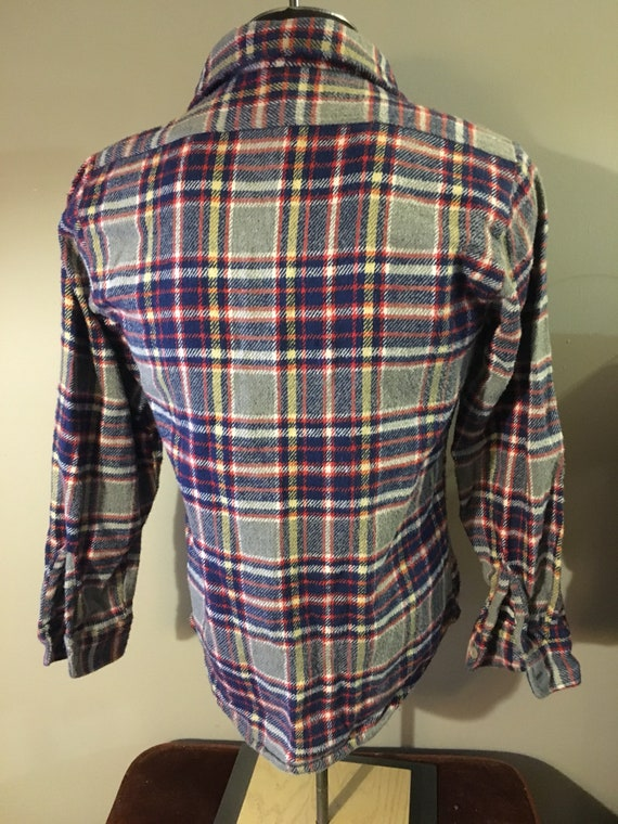 Vintage JC Penney Big Mac Plaid Flannel Shirt - image 3