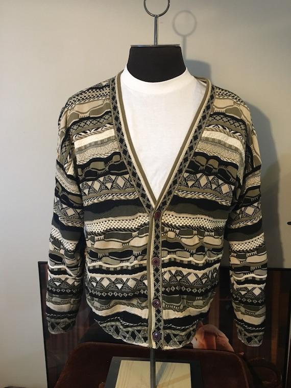 Vintage Coogi Style Tosani Cardigan Sweater